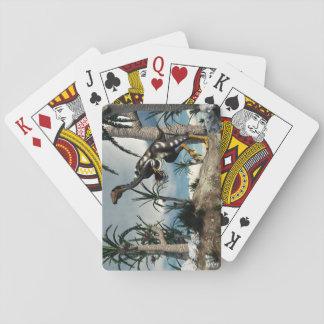 Caudipteryx dinosaur - 3D render Playing Cards