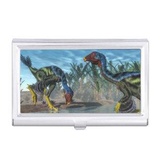 Caudipteryx dinosaurs - 3D render Business Card Holder