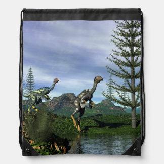Caudipteryx dinosaurs - 3D render Drawstring Bag