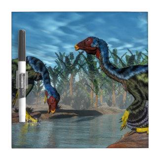 Caudipteryx dinosaurs - 3D render Dry Erase Board
