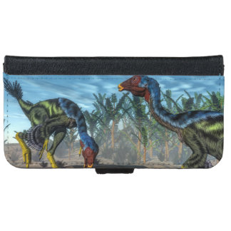 Caudipteryx dinosaurs - 3D render iPhone 6 Wallet Case