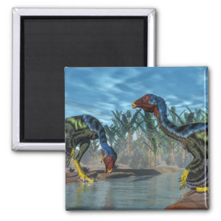 Caudipteryx dinosaurs - 3D render Magnet