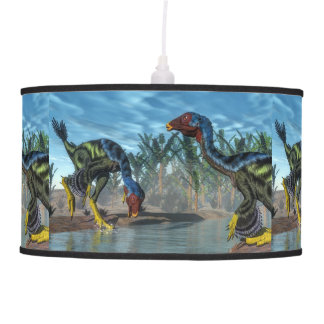 Caudipteryx dinosaurs - 3D render Pendant Lamp