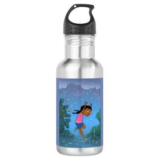 Caught in the Rain design Water Bottle