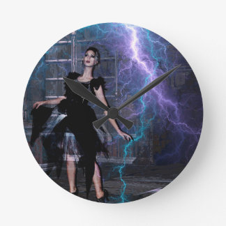 CAUGHT IN THE STORM ROUND CLOCK