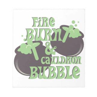 Cauldrom Bubble Notepad