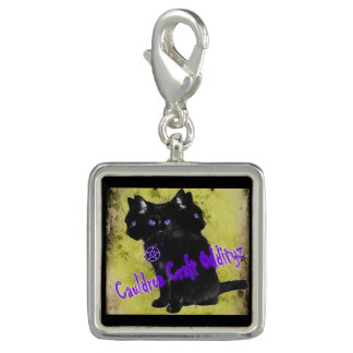 Cauldron Craft Oddityz 3 Headed Black Cat Charm