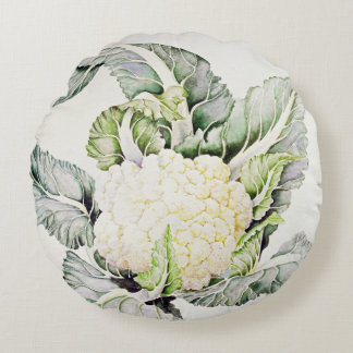 Cauliflower Study 1993 Round Pillow