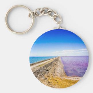 causeway and salt basic round button keychain
