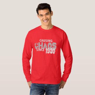 Causing Chaos Since 1930 T-Shirt Bday Gift Shirt