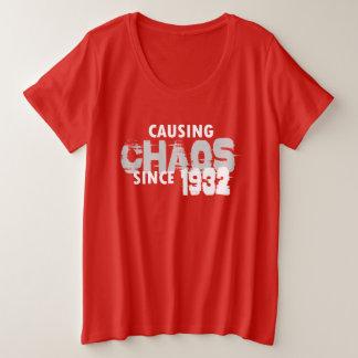 Causing Chaos Since 1932 T-Shirt Bday Gift Shirt