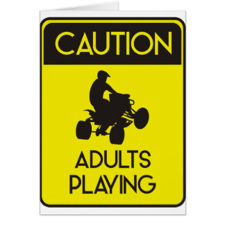 CAUTION ADULTS PLAYING CARD