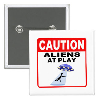 Caution Aliens At Play Black Text Buttons