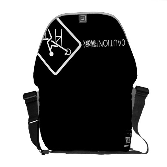 Caution Architect at Work Courier Bags
