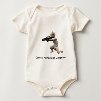 Caution. Armed and Dangerous Baby Bodysuit