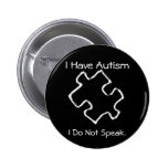 Caution Autism 2 Inch Round Button