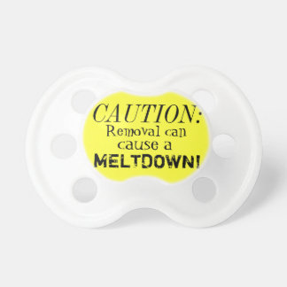 Caution Baby Pacifiers