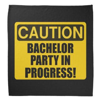 Caution Bachelor Party Progress Bandana