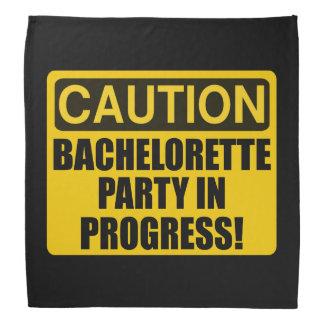 Caution Bachelorette Party Progress Bandana