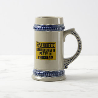 Caution Bachelorette Party Progress Beer Stein