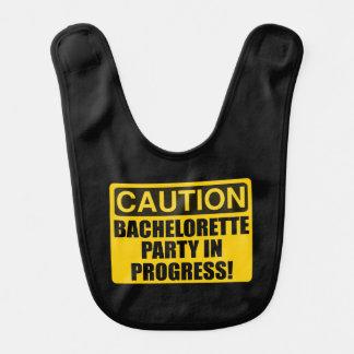 Caution Bachelorette Party Progress Bib