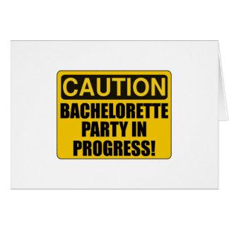 Caution Bachelorette Party Progress Card
