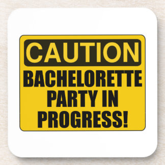 Caution Bachelorette Party Progress Coaster