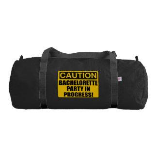 Caution Bachelorette Party Progress Gym Bag