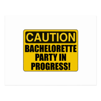 Caution Bachelorette Party Progress Postcard