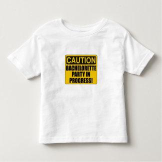 Caution Bachelorette Party Progress Toddler T-shirt