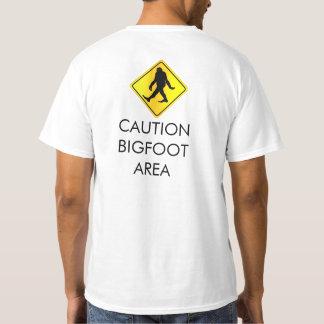 Caution Bigfoot Area T-Shirt