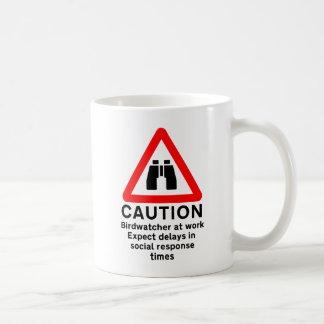 Caution Birdwatcher Mug