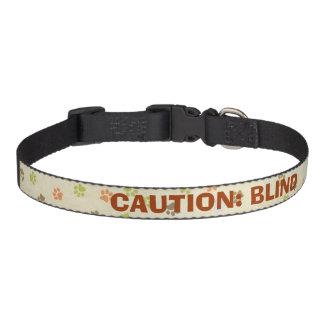CAUTION: BLIND Pet Collar