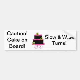 Caution! Cake on Board Bumper Sticker