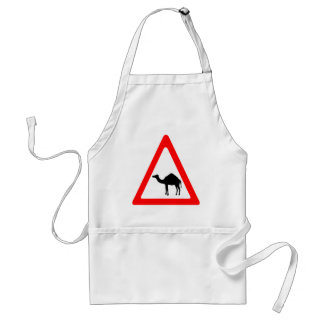 Caution Camel Crossing Traffic Sign Standard Apron