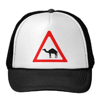 Caution Camel Crossing Traffic Sign Trucker Hat