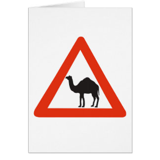 Caution Camels, Traffic Sign, United Arab Emirate Card