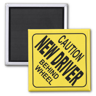 caution car magnet