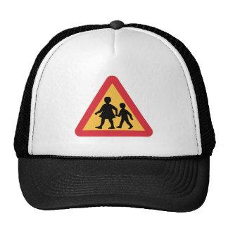 Caution Children, Traffic Sign, Sweden Trucker Hat