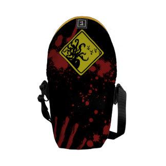 Caution Cthulhu Splatter Commuter Bag