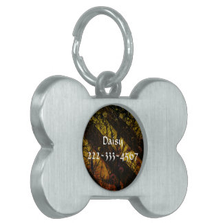 Caution Daisy Pet Name Tags