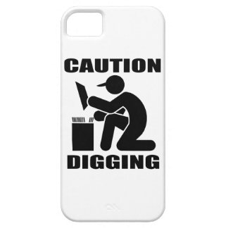 Caution Digging Case For The iPhone 5