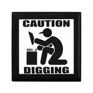 Caution Digging Jewelry Boxes