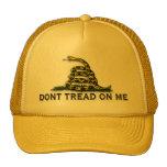 "CAUTION ""Don't Tread On Me"" FLAG Mesh Hat"
