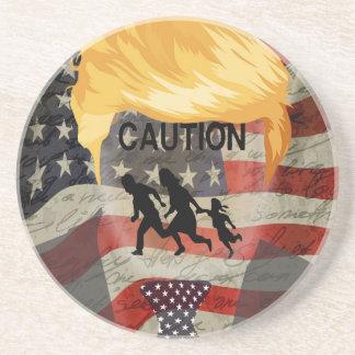 Caution Drink Coaster