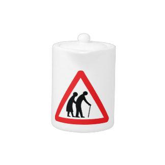 CAUTION Elderly People - UK Traffic Sign