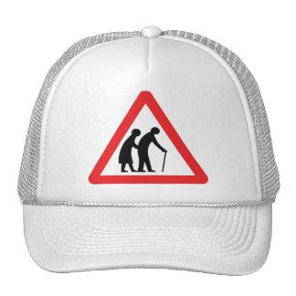 CAUTION Elderly People - UK Traffic Sign Trucker Hat