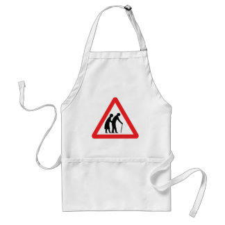 CAUTION Elderly People - UK Traffic Sign Standard Apron