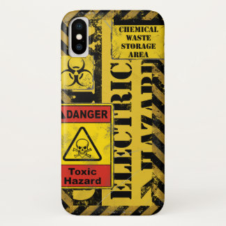 Caution Electrical Hazard Iphone case V2