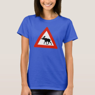 Caution Elks, Traffic Sign, Norway T-Shirt
